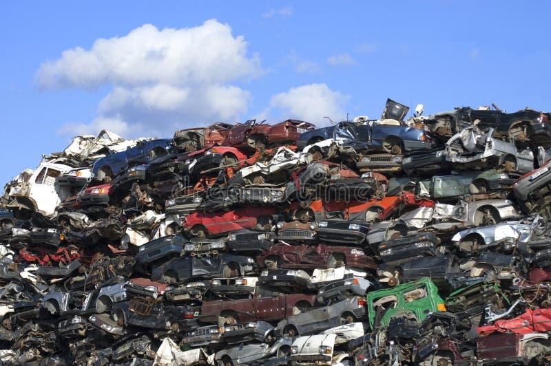 Car junkyard royalty free stock photography