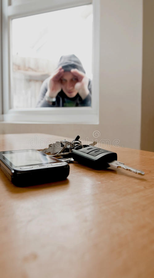 Car key burglar. Car keys for a high powered executive vehicle on show to burglar royalty free stock photos