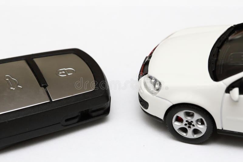 Car key and car royalty free stock photos