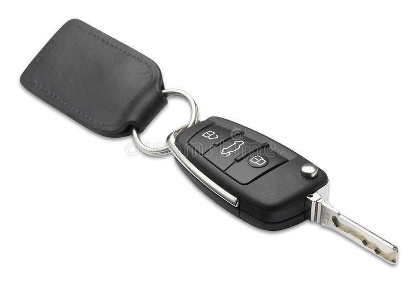 Car key and fob shallow dof with clipping path stock photography
