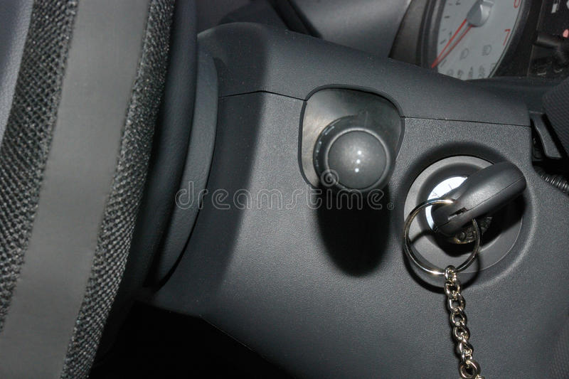 Download Car key in ignition stock image. Image of unlocking, black - 12065225