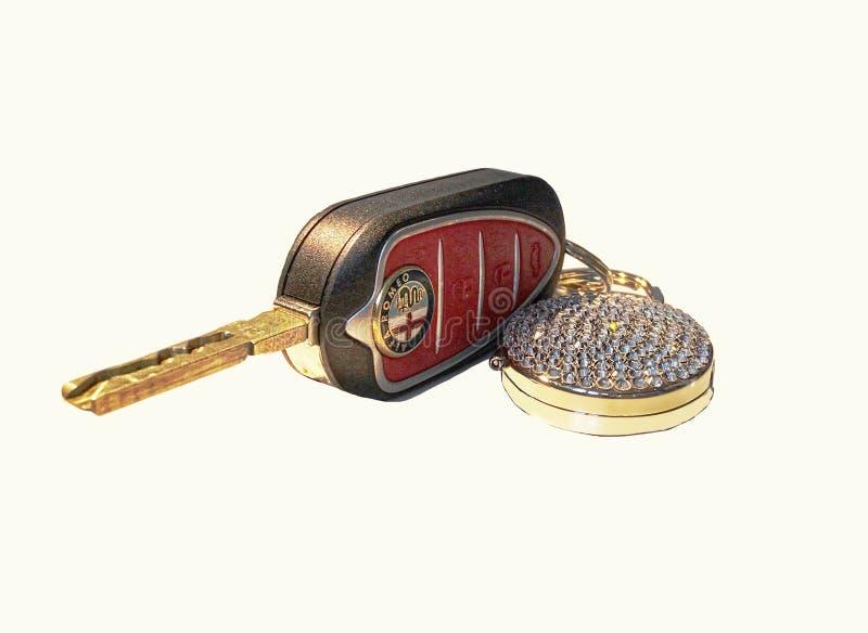 Car Key & Keyring...x royalty free stock images