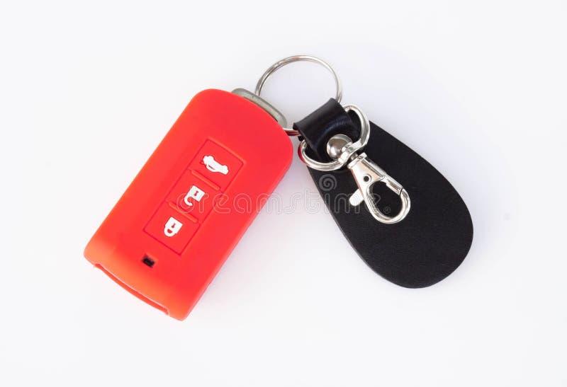 Car key rad isolated on white background stock photography