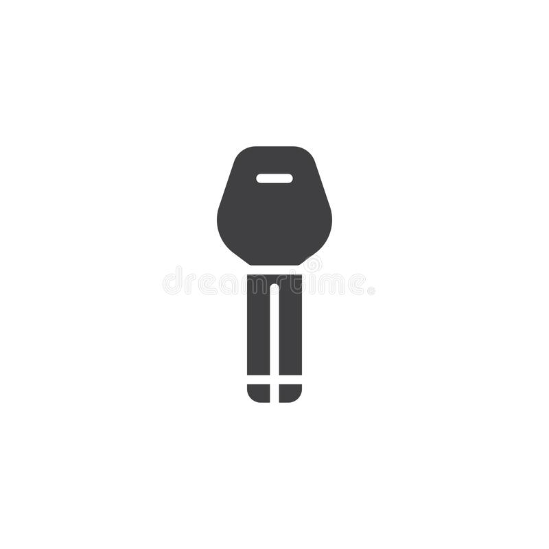 Car key vector icon. Filled flat sign for mobile concept and web design. Key glyph icon. Auto service repair symbol, logo illustration. Pixel perfect vector vector illustration