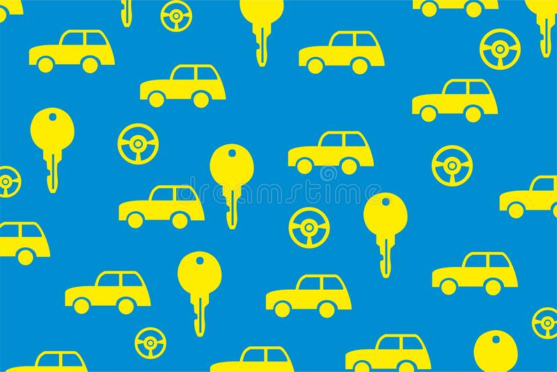 Car Key Vehicle Vector Background Stock Vector