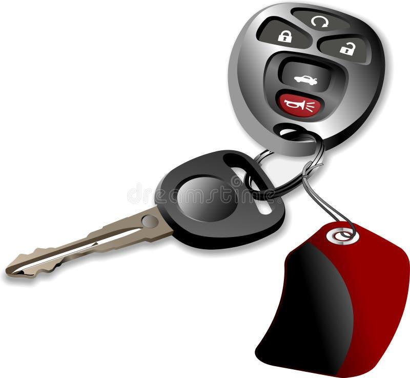 Car keys. Objects isolated on white background illustration stock illustration