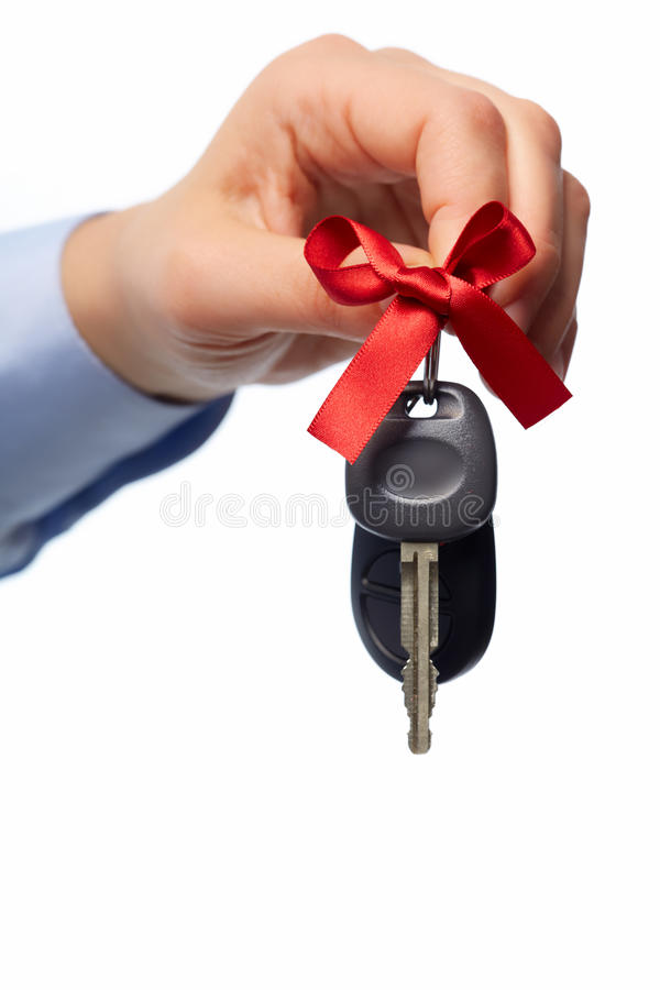 Car keys. Auto dealership and rental concept background stock photo