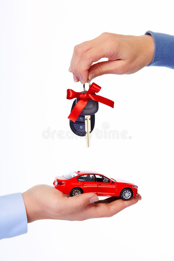 Car keys. Auto dealership and rental concept background royalty free stock photo