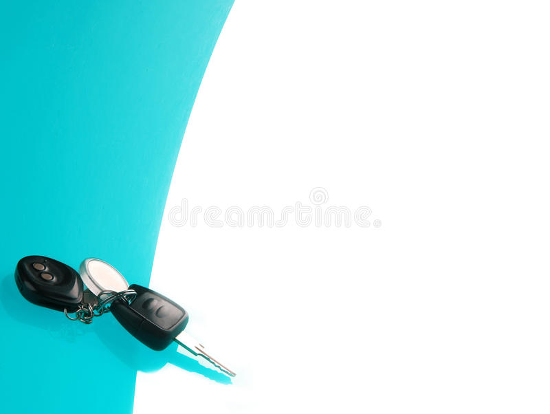 Download Car Keys On Blue Background Stock Photo - Image: 34155876