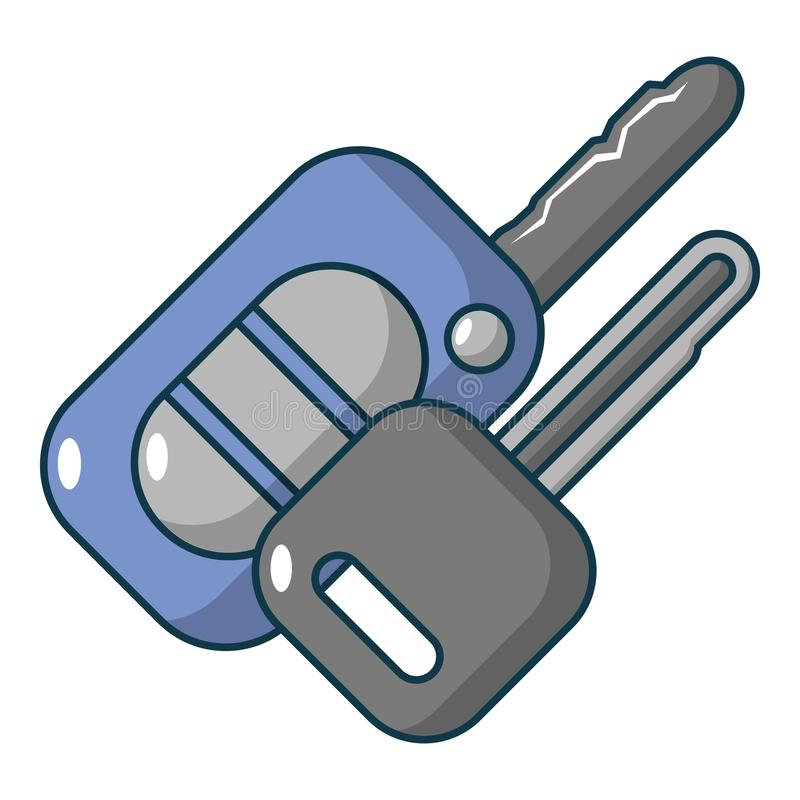 Car keys icon, cartoon style. Car keys icon. Cartoon illustration of car keys vector icon for web design vector illustration