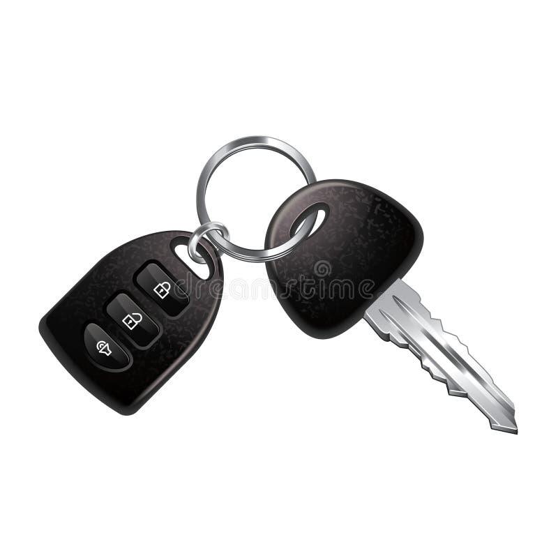 Car keys isolated on white vector. Car keys isolated on white photo-realistic vector illustration royalty free illustration