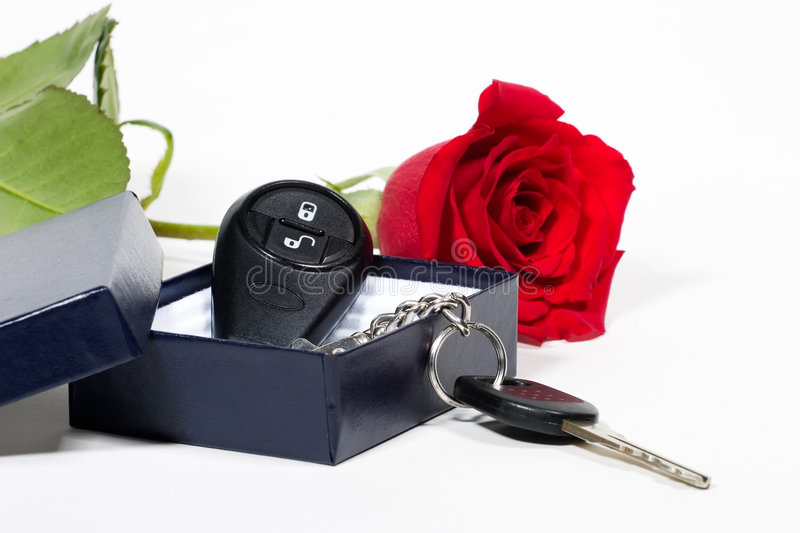 Download Car Keys And Roses Bouquet Royalty Free Stock Image - Image: 1701366