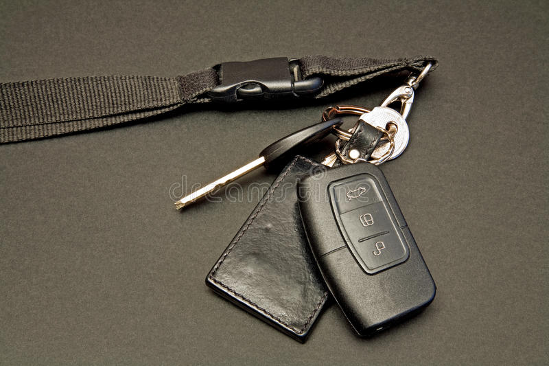 Car keys set with remote control stock images