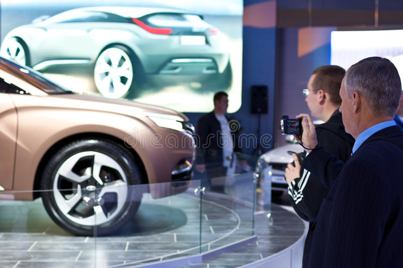Car LADA XRAY greeted visitors to the exhibition