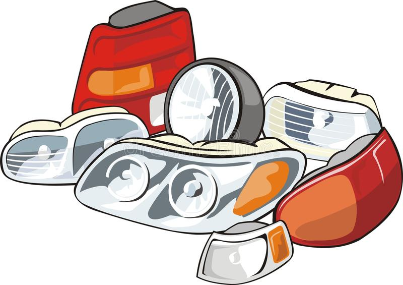 Car lamps vector illustration
