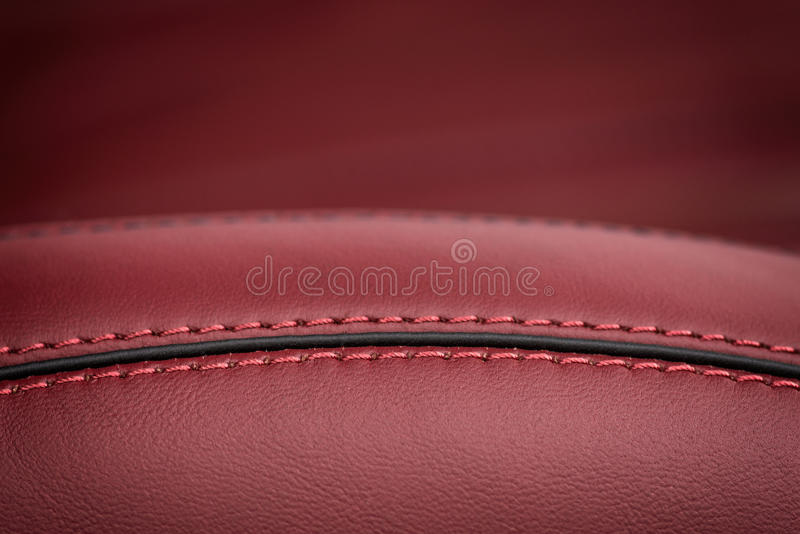 Car leather seat. Horizontal macro photo royalty free stock photo