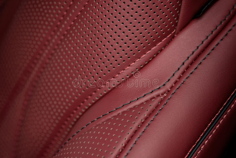 Car leather seat part. Macro royalty free stock photo