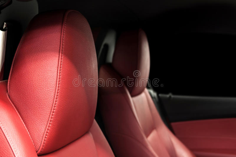 Download Car leather seats. stock photo. Image of automobile, horizontal - 55621596