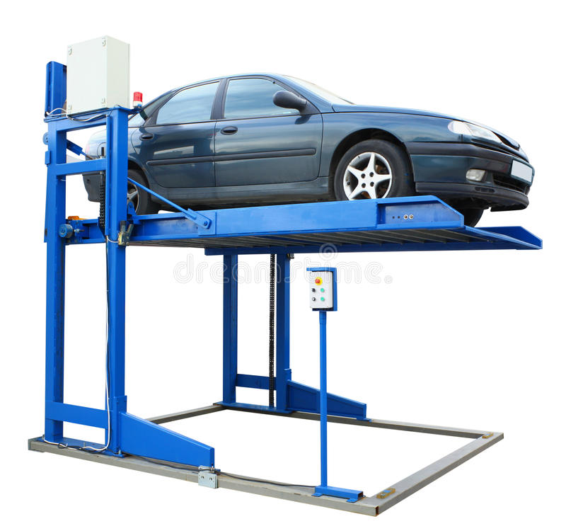 Car lift platform royalty free stock photography