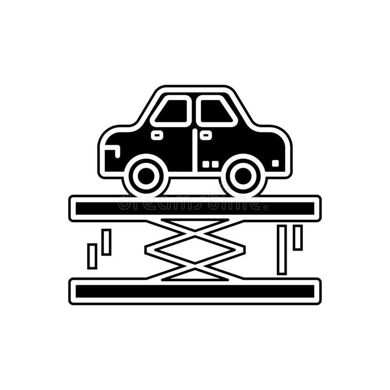 Car lifter icon. Element of Cars service and repair parts for mobile concept and web apps icon. Glyph, flat line icon for website. Design and development, app royalty free illustration