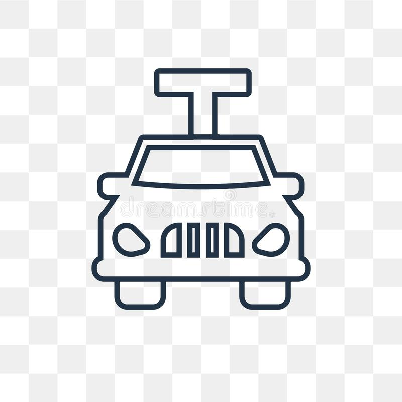 Car lifter vector icon isolated on transparent background, linear Car lifter transparency concept can be used web and mobile stock illustration