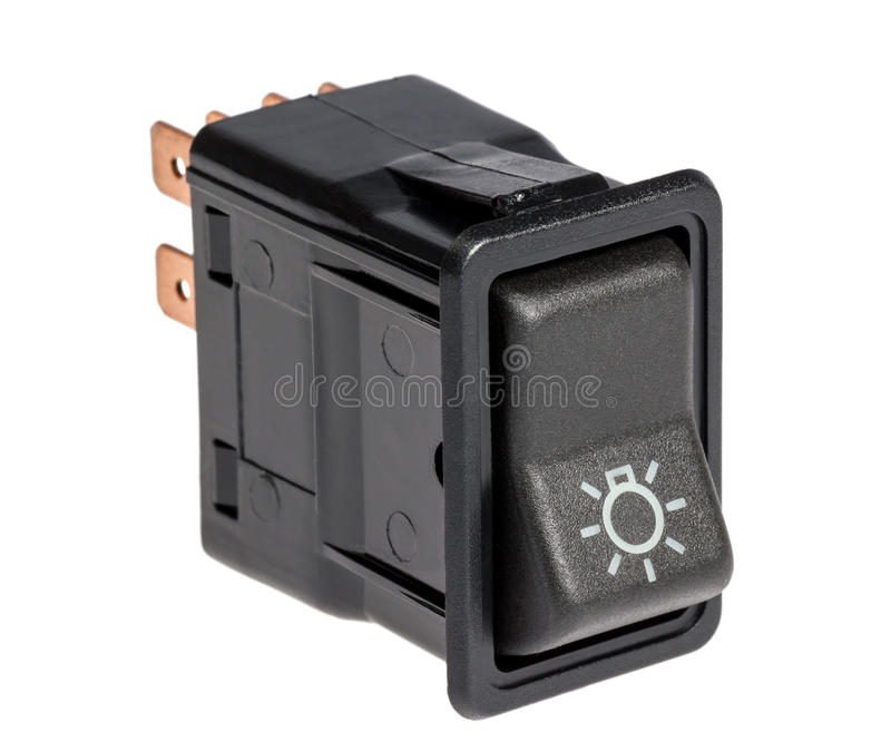 Car light control switch royalty free stock photography