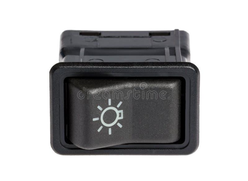 Car light control switch stock image