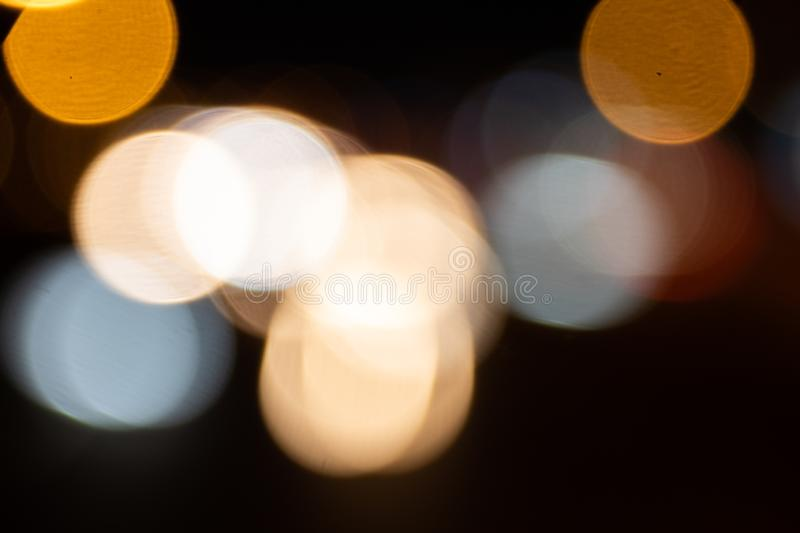 Car light trails on Interstate 75 at night time. Blurs and Bokeh Effect.  Art image. royalty free stock image