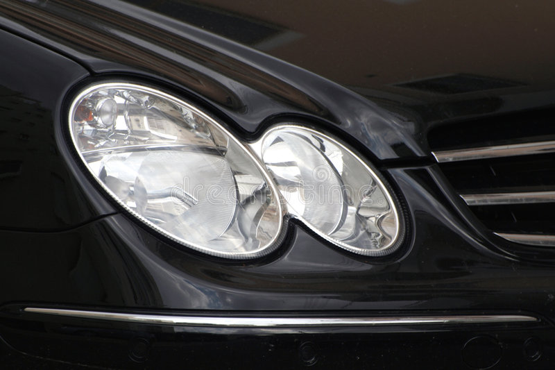 Car lights ... royalty free stock photo