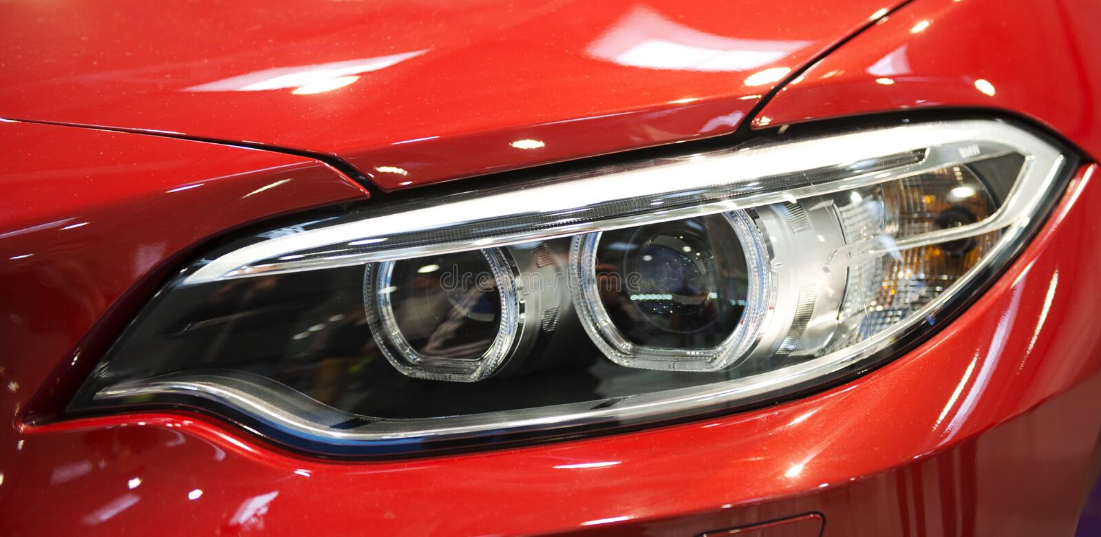 Car lights stock photos