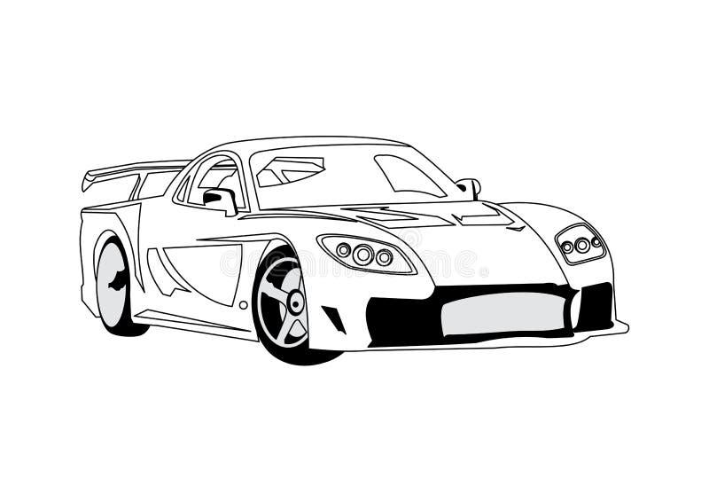 Download Car Line Art stock vector. Illustration of transport, illustration - 6805743