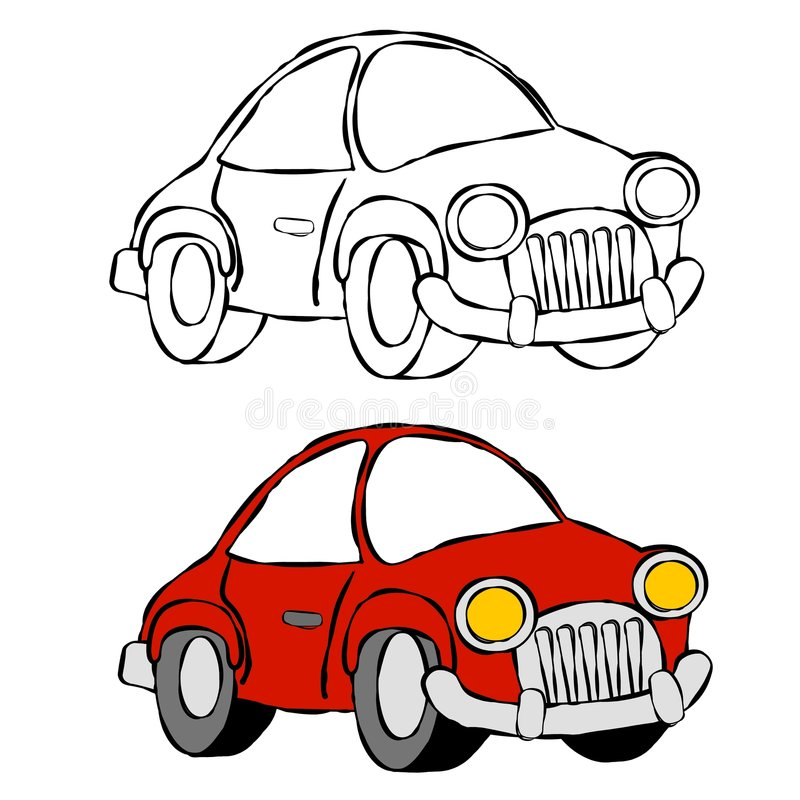Car Line Art royalty free illustration