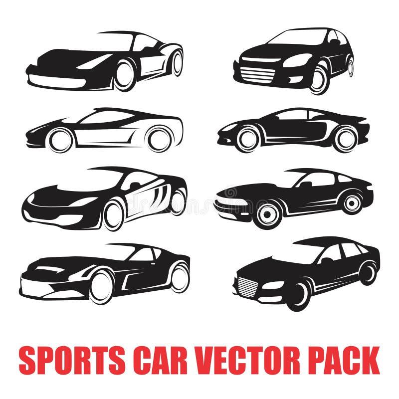 CAR LINE SILHOUETTE VECTOR PACK vector illustration