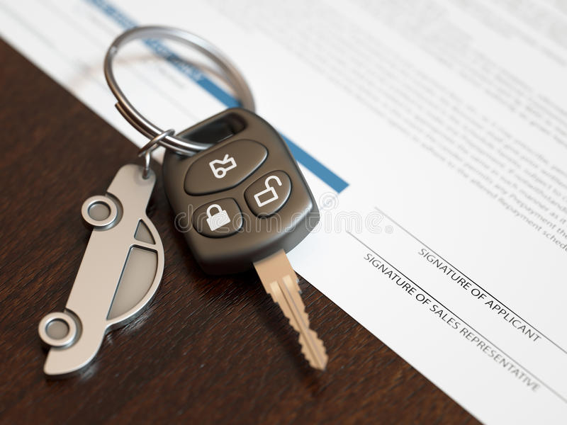Car Loan Application stock images