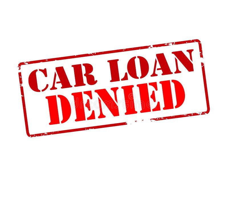 Car loan denied vector illustration