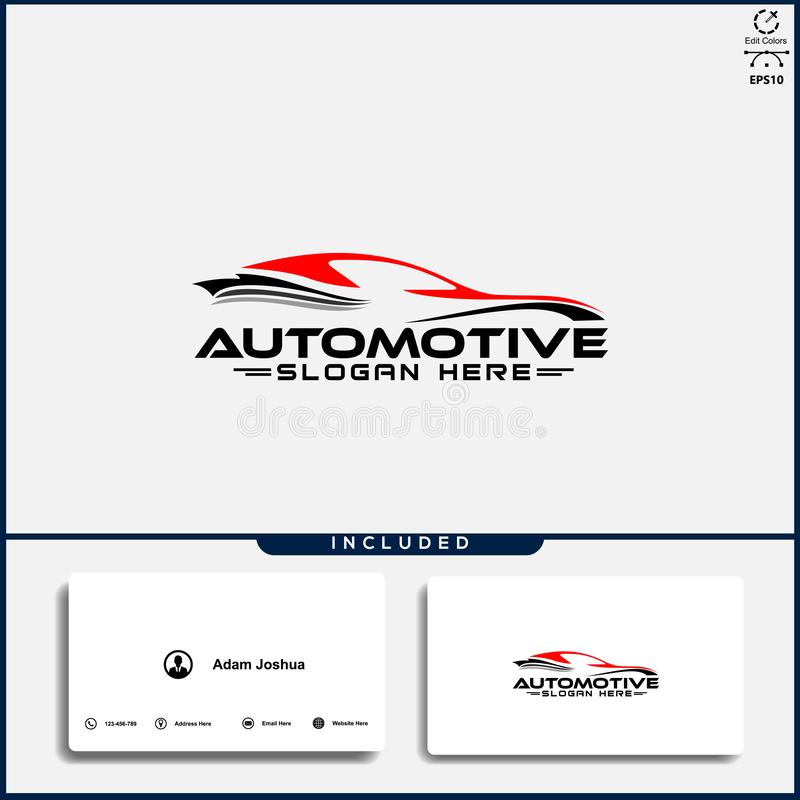 Car logo, abstract car design concept, automotive car logo design template royalty free stock photo
