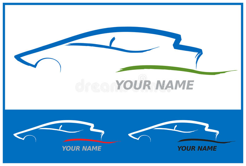 Car Logo in Blue and Green Vector Illustration vector illustration