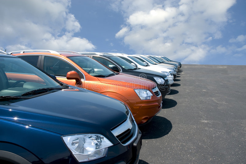 Car Lot royalty free stock photography