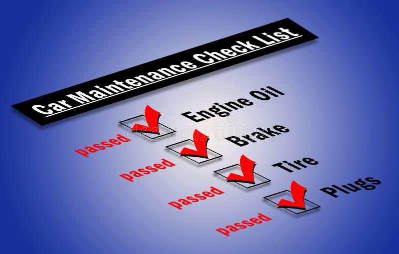 Download Car maintenance checklist stock illustration. Image of service - 15089544