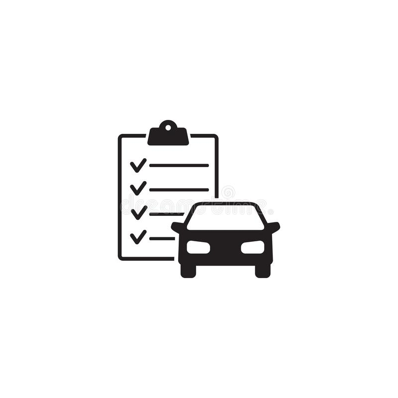 Car maintenance list icon royalty free illustration