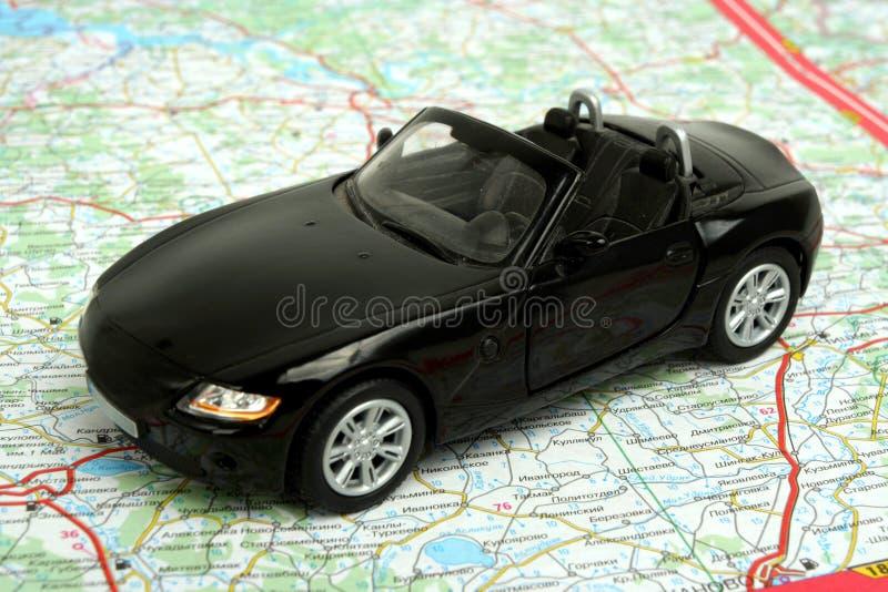 Download Car on map stock image. Image of recreational, plan, tour - 14851597