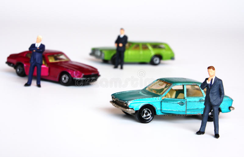 Car market. Looking to buy a second-hand car royalty free stock images