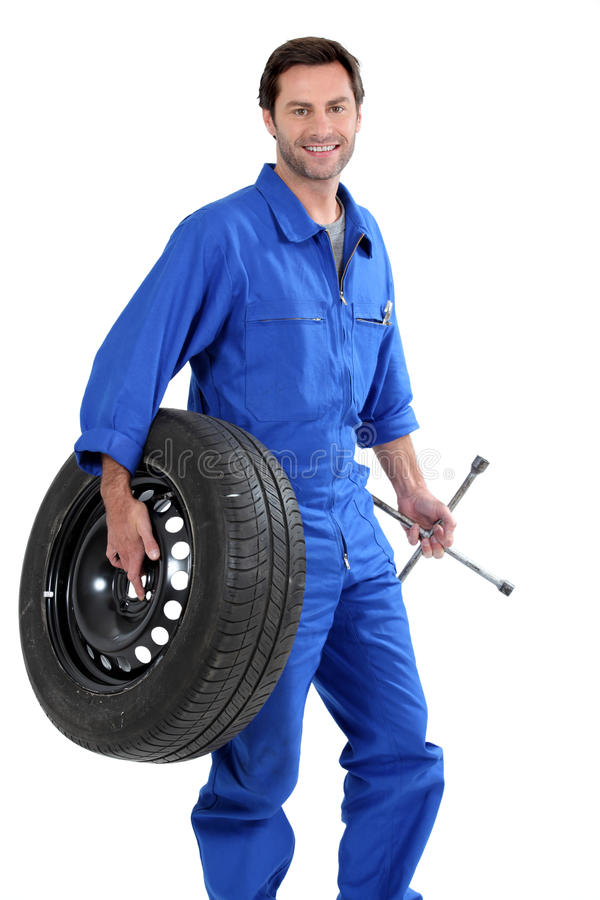 A car mechanic royalty free stock images