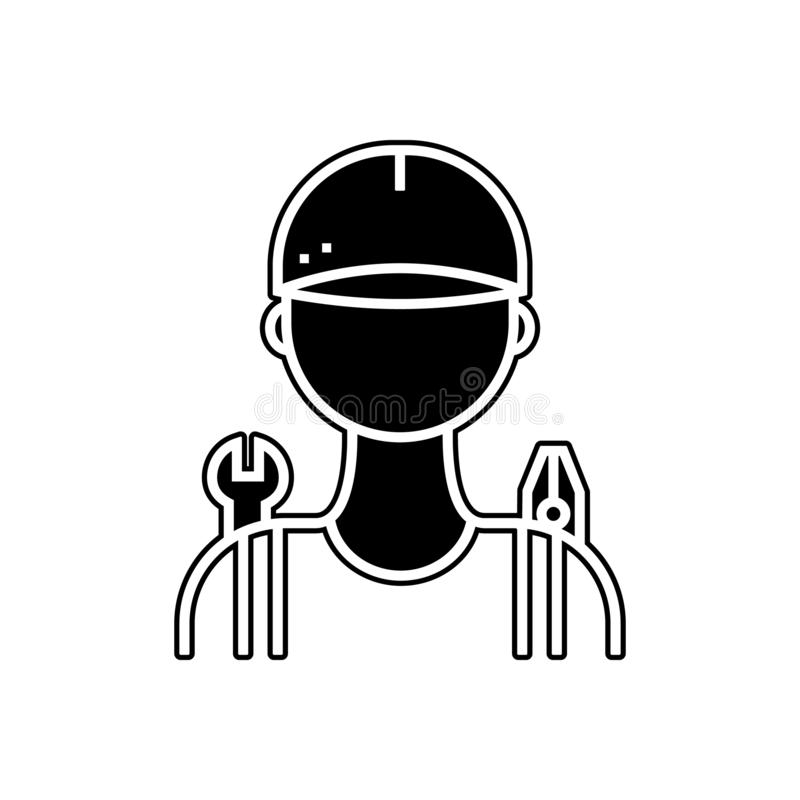 Car mechanic icon. Element of Cars service and repair parts for mobile concept and web apps icon. Glyph, flat line icon for. Website design and development, app royalty free illustration