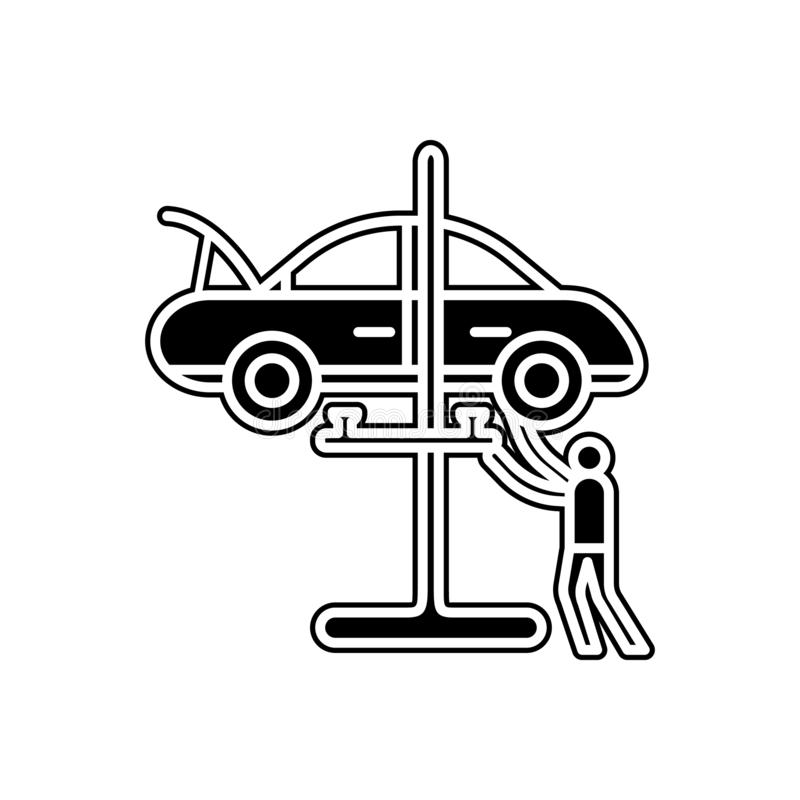 Car mechanic icon. Element of Cars service and repair parts for mobile concept and web apps icon. Glyph, flat line icon for. Website design and development, app stock illustration
