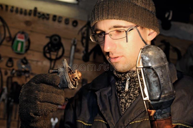 Download Car Mechanic At Repair Work Stock Photo - Image: 13252560