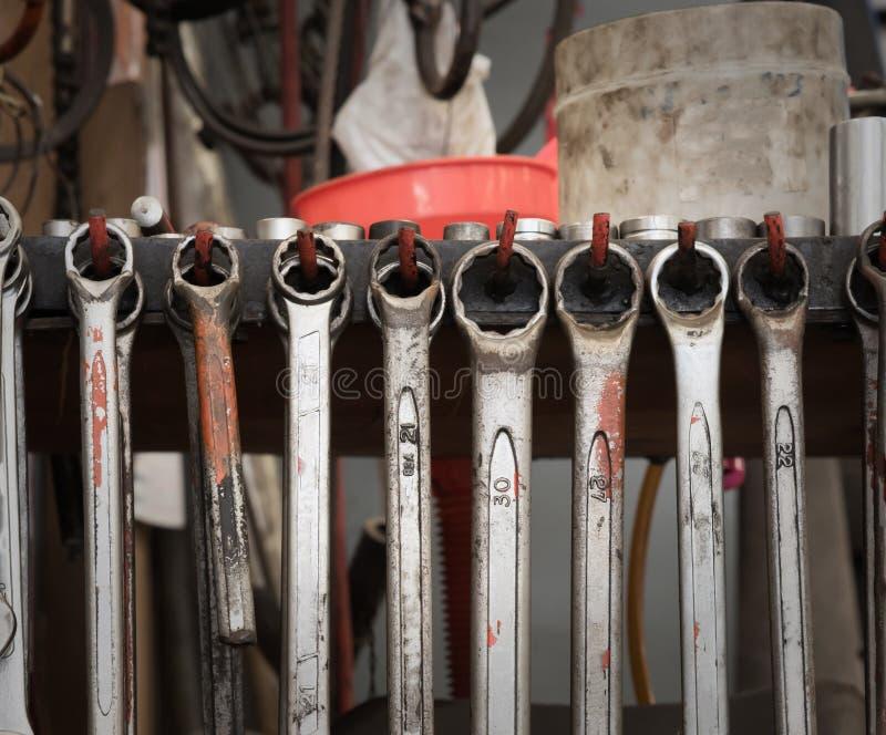 Car mechanic tools. royalty free stock photography