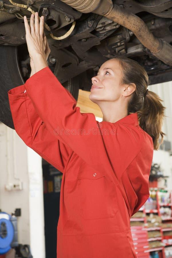 car mechanic under working στοκ φωτογραφίες