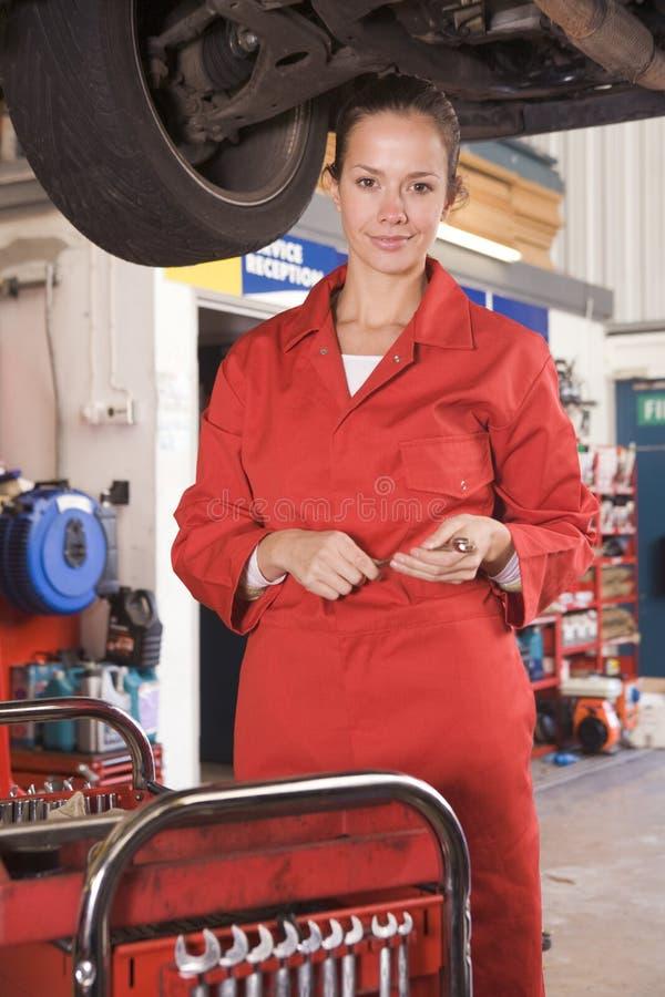 car mechanic under working στοκ φωτογραφία