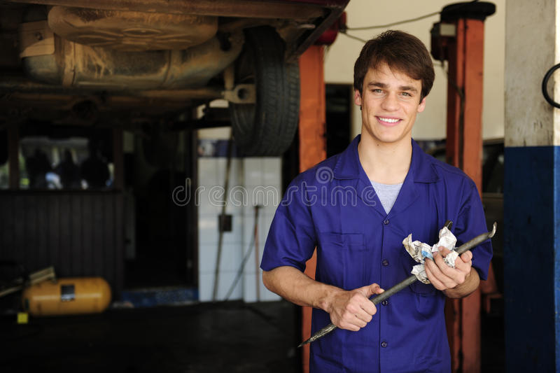 Car Mechanic At Work With Copy Space Stock Images